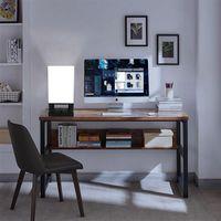 40W (ohne Glühbirne) Tischlampe US-Standard Schwarzer viereckiger Basis (Dual-USB-Schnittstelle) Warm-Beleuchtungstischlampen ZC001286 Indoor