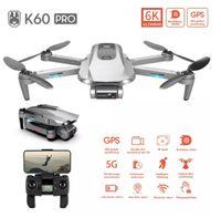 K60 Pro 6K HD Regolazione elettrica Dual fotocamera 5G Drone, Zoom 50 volte, due assi Gimbal, Motore Brushless, Posizionamento GPS, Smart Segui 1 PZ