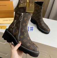 Women Heel Snow Boots Leather ankle boot chunky heel Martin ...