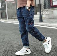 2021 yeni ilkbahar sonbahar çocuk giyim erkek rahat kot çocuk pantolon bebek pantolon perakende boyutu 4-11years eski