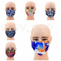 Máscaras Adulto Camuflagem descartável Designer Máscaras 3 camadas não-tecidos anti-poeira Moda Earloops Protective 6styles Máscara RRA3693