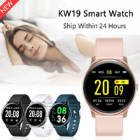 KW19 intelligente Guarda Blood Pressure impermeabile cardiofrequenzimetro Fitness Tracker Sport intelligenti Braccialetti per Andriod Ios con la scatola di vendita al dettaglio