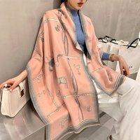 2020 роскошные кашемировые шарф женские зимние теплые пашмина шали и обертки дизайн лошади печать буфанда толстого одеяла шарфы