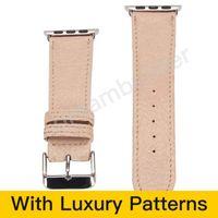 M Дизайнерские баты для часов для часов ремешок для часов 42 мм 38 мм 40 мм 44 мм Iwatch 1 2 3 4 5 полос кожаных ремешка браслетов мода