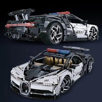Decool Technic Serisi Bugatti Chiron Yarış Araba 3388A 3388B 3388C 3388D Polis Araba Modeli Yapı Taşları Tuğla Oyuncaklar Fit 20086 X0102