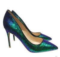 2020 Moda Lüks Tasarımcı Kadınlar Elbise Ayakkabı Kırmızı Bottoms Yüksek Topuklar 10cm 12CM büyük boy 45 Pembe Siyah Sivri Burun Patent Deri pompalar 8 cm