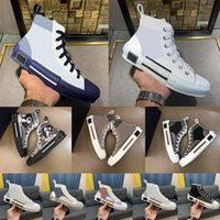 2021 B23 B22 B24 B24 مصمم أحذية رياضية مستفادة الفنية الفنية 19ss الزهور المنصة في الهواء الطلق عارضة أحذية المدربين جلد الحجم 36-45 # 55