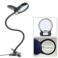 Tomshine LED 3X / 10X Magnifier lâmpada de vidro com braçadeira portátil abajur Regulável flexível para máquinas de impressão Carving C0930