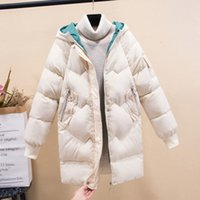 Women's 2020 Winter New Mid-length Ladies Loose Korean Down Jacket Bread Coat Cotton Tide Straight Type L459