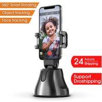 السيارات الذكية الرماية selfie عصا 360 درجة حامل تتبع الكائن الكل في واحد دوران الوجه تتبع الكاميرا حامل الهاتف