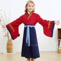 Antica cinese tradizionale principessa costume cosplay baby-girls folk dance hanfu prestazioni festival abbigliamento abbigliamento abbigliamento abbigliamento kg-858