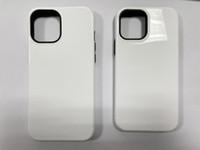2 in 1 Cassa del telefono di stampa a sublimazione 3D per iPhone 12 Mini / 12 Pro Max PC + Caso TPU 100 pezzi / lotto