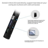 الماسحات الضوئية المحمولة اللاسلكية A4 حجم وثيقة الصور الماسح الضوئي 900DPI دقة / JPG PDF Formate شاشة LCD (تنسيق JPG / PDF، السرعة العالية 1