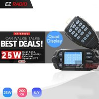 QYT KT-8900D 25W Quad bande mobile Car Radio 4 Band 136-174MHz / 400-480MHz Mise à niveau KT8900 Walkie Walkie Talkie 10 km BJ-218 BJ-3181
