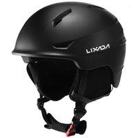 Skihelme Lixada Snowboard-Helm mit abnehmbarem Ohrmännchen Männer Frauen Sicherheit Skifahren Goggle Feste Gurt Professionelles Snow1