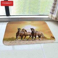 HD Running horse 40x60cm Doormat water absorb Entrance carpet Floor Mat kitchen Rug Indoor Bathroom anti-slip carpets door mats