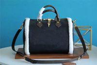 Shearling INSERTS가있는 빠른 30 BADOULIERE 핸드백 원래 소프트 여행 가방 클래식 스타일 패션 가방 숙녀 가방 어깨 가방 토트 M56966