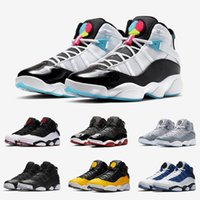 Mode South Beach Jumpman Six Anneaux Chaussures Basketball Noir Glace Black Grey Cool Gris Haute Coupe jordan 6 rings Hommes Baskets Sports de plein air 7-13