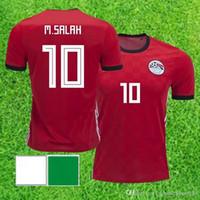 2018 Coppa del Mondo Egitto Home Soccer Jersey Egitto # 10 m.salah Camicia da calcio Casa Home Red Football Uniforms Sales