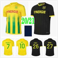 2020 2021 FC Nantes Футбольные трикотажные майки Simon Louza Toure BLAS Coco Coulibaly Custom 20 21 Домашний Домашний Взрослый Дети Мужчины Футбольные Рубашки