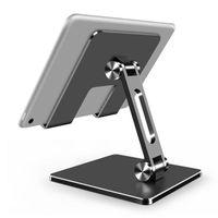 Tablet PC Soporte soporte portátil Tabla plegable Soporte de soporte de la aleación de aluminio Teléfono móvil antideslizante para iPad