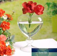 الزجاج أواني الزهور الغراس القلب الزجاج زهرية الدائمة الديكور المنزلي زهرة زهرية سطح المكتب الديكور المزهريات حفل زفاف ديكور