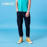 Simwood Bahar Yaz Yeni Klasik Kot Erkekler Temel Rahat Denim Pantolon Artı Boyutu Marka Giyim SJ130403 201128