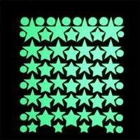 Домашнее украшение Glow стикер стены винила Luminous Childrenroom Peel Стик стены Decal Circle Dot Star Design Room Decor Sticky Советы 3 3pd L2