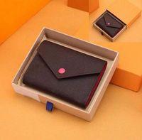 2021 أزياء محافظ بالجملة نساء متعدد الألوان حاملي عملة قصيرة محفظة بطاقة حامل البطاقة 3 أضعاف محفظة