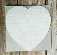 Сублимационная пустая жемчужная легкая пейджер головоломки сердца любовь форма головоломка горячая передача печать пустые расходные материалы детские игрушки подарки DHL