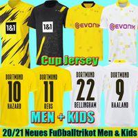 Top Haaland Reus Borussia 20 21 Dortmund Soccer Jersey 2020 2021 Camicie da calcio Bellingham Sancho Hummels Brandt Men Bambini Kit Uniformi