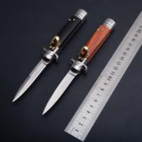 OEM de la mafia más 9 pulgadas leverletto 440 hoja del cuchillo de bolsillo mango trompa natural cuchillo ITA automática plegable cuchillos de acampada 1pcs