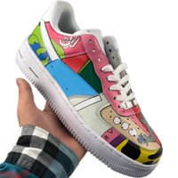 2020 AF1 Low Cut Skate Graffiti Sneaker Originals AF1 Buffer_Rubber Built_in Zoom Air de amortecimento tênis de basquete