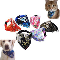 Adjustable Small Dog Cat Collar Scarf 6 Colors Print Puppy K...