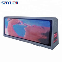 Pantalla LED Sign Taxi Roof Top Top Programable P5 al aire libre Doble-Side 960x320mm
