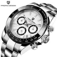 Наручные часы Pagani Дизайн Световые наручные часы Япония Movt Мужчины Спортивные кварцевые Сапфировые Кристалл Часы Дата Relogio Masculino PD 16441