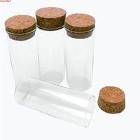 30 * 75 mm 35 ml Viales de vidrio Tarjetas de ensayo con tapón de corcho Vacío Botellas transparentes transparentes 50pcs / Lothigh Cantidad