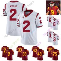 USC Trojans Southern California Football Jersey NCAA College 7 Stephen Carr 15 Drake London 8 Amon-Ra St. Brown 93 Marlon Tuipulotu