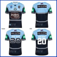 2020 NSW Blues Estado de origem Alternar Jersey Home Jersey 2020 True Capitães Azul Rugby Jerseys NSW Austrália Estado de Origem Jersey