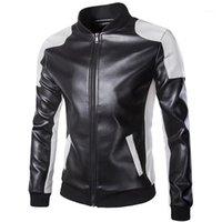 Casacos de couro de motocicleta homens outono inverno roupas de couro homens casacos macho branco casaco casual marca mais tamanho 5xl1