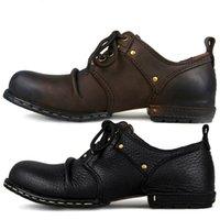 Otto Zone Handmade Véritable Veau Cuir Bottines Bottines Mode Hommes Chaussures Bottes Rivet Chaussures plates Casual Chaussures de lacets, Meilleure qualité LJ200916