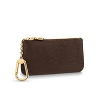 키 파우치 M62650 Pochette Cles 럭셔리 미니 지갑 디자이너 패션 망 열쇠 고리 신용 카드 홀더 코인 지갑 먼지 가방