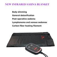 NUEVO infrarrojo lejano Sauna Manta Manta térmica adelgaza abrigo del cuerpo de la máquina portable Sauna Manta de adelgazamiento