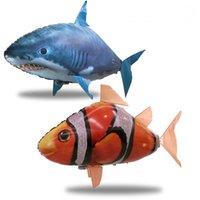 Commercio all'ingrosso nuotatore d'aria IR RC Shark Shrownfish Pesci di pesce volante Pesce Assemblaggio Pagliaccio Pesce Telecomando Palloncino Gonfiabile Giocattoli divertenti per bambini