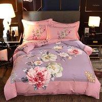 Chinoiserie Chic Blossom Çiçek Baskılı Nevresim Seti Vintage Stil Fırçalanmış Pamuk Ultra Yumuşak Yatak Seti Çarşaf Yastık1