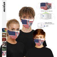 Yüz Yeni Dijital Sıcak Çok Tasarım Kafatası Baskı Koruyucu Ile Filtre Çip Toz Geçirmez PM2.5 Smog Yetişkin Maskesi Çocuk Için