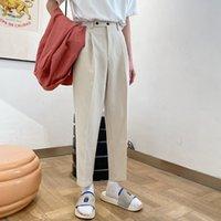 Calças retas das homens soltos Calça Casual Ocidental calças engrossar terno de veludo Calças Formal Negócios Algodão Calças S-XL 201012