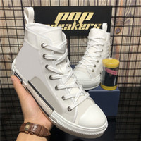 Top Quality Mens Womens B 23 Retro Obliqui White Technical Knit Patchwork Uomo Donna Outdoor Lussurys Designer Piattaforma di tela Scarpe casual