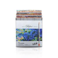 Marco 7100 Prismacolor Wood Crayons de couleur 72 boîte à huile boîte de dessin professionnel crayons croquis Art pour les fournitures scolaires Y200709