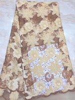 Ткань BZL-8.0524 Дизайн модный тюль вышивка французская чистая кружева для вечеринок Press1